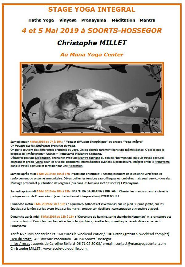 Stage Yoga Intégral Christophe Millet Mana Yoga Hossegor